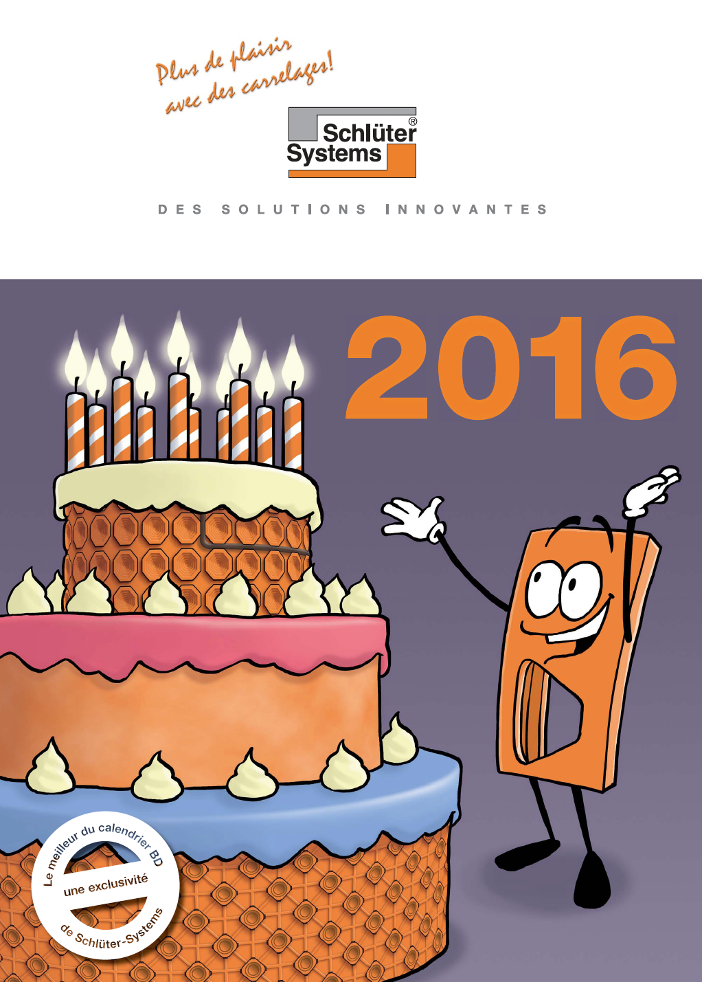 Das Cover des Schlüter-Systems Cartoon Kalenders 2016