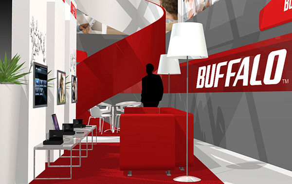 Eine 3D-Animation des Buffalo Messestandes